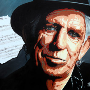 Angie-Keith Richards tableau à l'huile galerie venturini antibes