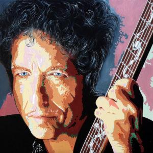 Bob Dylan tableau à l'huile galerie venturini antibes