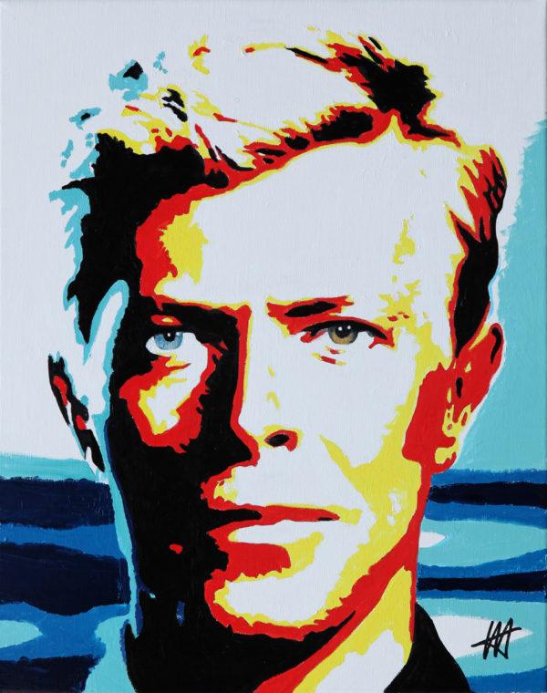 David Bowie tableau à l'huile galerie venturini antibes