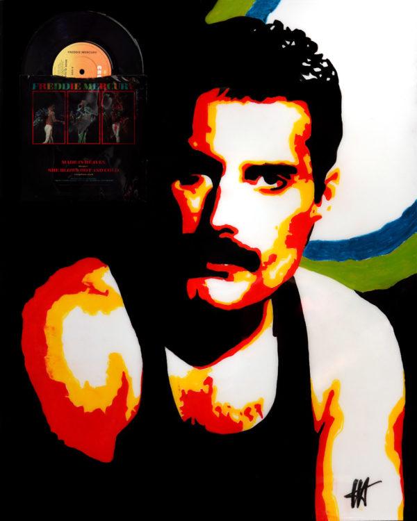 Freddie Mercury tableau à l'huile galerie venturini antibes