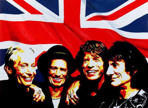 Rolling Stones Exhibit tableau à l'huile galerie venturini antibes
