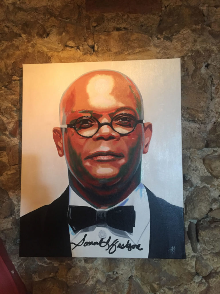 acteur, antibes, JJV, Juan les pins, michelangelo, people, Pop Art, Samuel L. Jackson