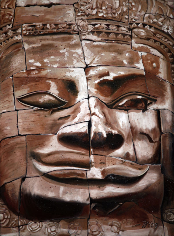 angkor vat, art bouddhique, Bayon, cambodge, galerie venturini, JJV, khmers, narcissisme, patrimoine mondial de l'UNESCO