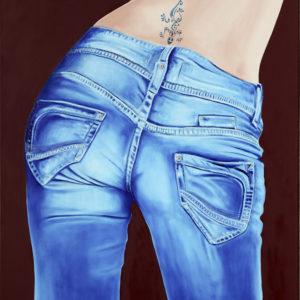 bleu, Femme, fesses, galerie venturini, Jeans, JJV