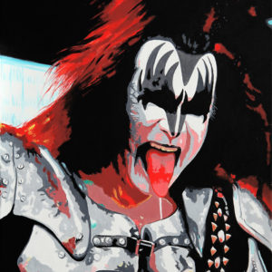 chanteur, galerie venturini, gene simmons, JJV, kiss, people, rock