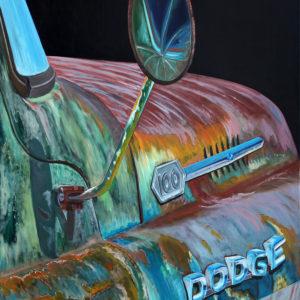 capot, chromes, dodge, ford, galerie venturini, Old cars, rétroviseur, rouille