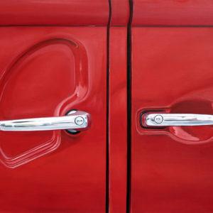 galerie venturini, Old cars, poignée, portière, rouge
