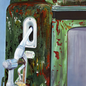 galerie venturini, Old cars, pompe à essence, vert