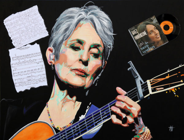 chanteuse, galerie venturini, guitare, Here's to you, JJV, Joan Baez, people