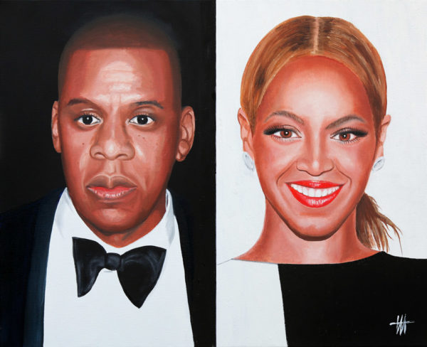 chanteurs, galerie venturini, Jay Z & Beyoncé, JJV, people