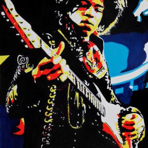galerie venturini, guitare, jimi hendrix, JJV, people, rock'n'roll, ryhtm'blues, Woodstock