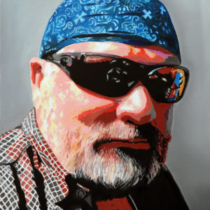bandana, biker, galerie venturini, JJV, lunette de soleil, moto, Pop Art