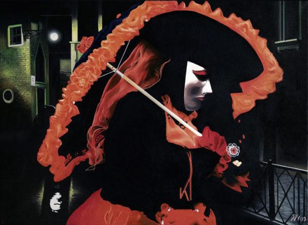 baroque, carnaval de Venise, galerie venturini, JJV, masque Non