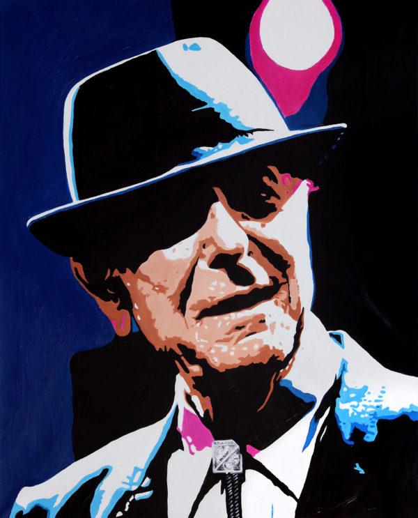 blues, chapeau, feutre, galerie venturini, JJV, léonard cohen, Pop Art
