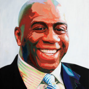 galerie venturini, JJV, Lakers, Los Angeles, lune, magic Johnson, National Basketball Association