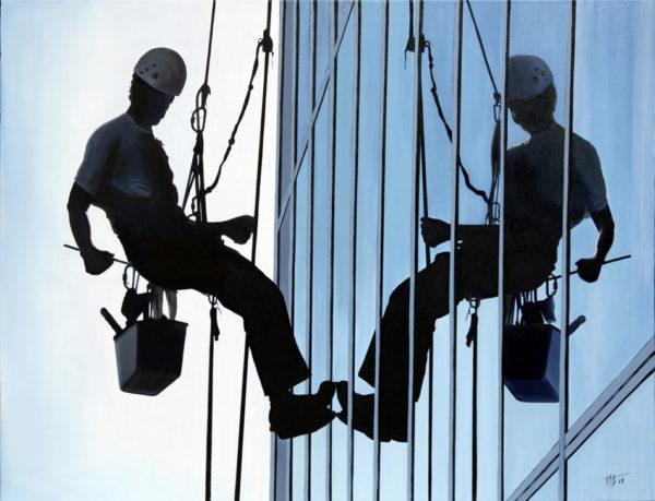 galerie venturini, JJV, laveurs de vitres, mitose, tour, travaux accrobatiques, vitres