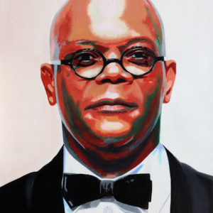acteur, antibes, JJV, Juan les pins, michelangelo, people, Pop Art, Samuel L. Jackson