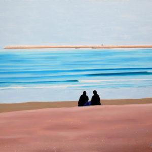 antibes, femmes, horizon, JJV, Juan les pins, mer, sable, secret