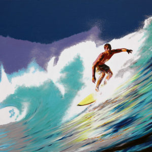 antibes, galerie venturini, JJV, Juan les pins, Pop Art, surf, vague