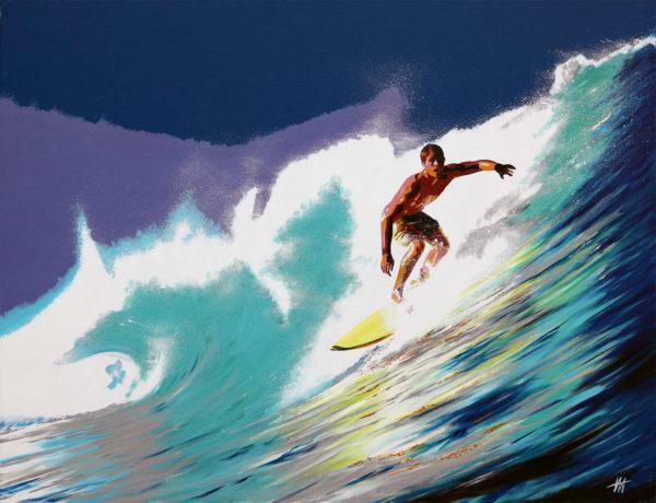 antibes, galerie venturini, JJV, Juan les pins, Pop Art, surf, vague