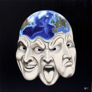 antibes, galerie venturini, JJV, Juan les pins, sentiments, tectonique, terre, trois visages