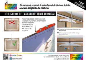 Fiche technique : cintre et mural accroche tableau